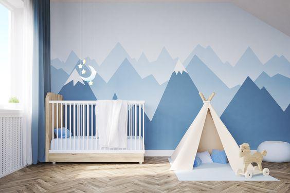 Puériculture DIY Déco Murale Montagne Chambre de Bebe